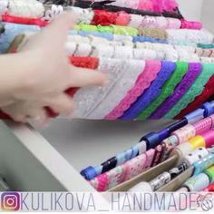 Arts And Crafts Storage, Diy Arts And Crafts, Craft Storage, Crafts To Make, Diy Crafts Hacks, Diy Home Crafts, Ribbon Organization, Fabric Tree, Basic Embroidery Stitches