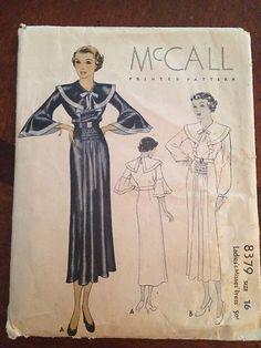 McCall 8379, ca. 1935 Misses' Dress