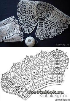 Captivating All About Crochet Ideas. Awe Inspiring All About Crochet Ideas. Crochet Collar Pattern, Col Crochet, Crochet Lace Collar, Crochet Diagram, Crochet Stitches Patterns, Crochet Chart, Irish Crochet, Crochet Motif, Crochet Doilies