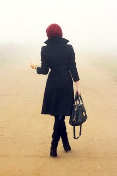 (Zara coat and boots, random beanie hat, Michael Kors watch and Marc by Marc Jacobs bag)
