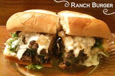 Diddles and Dumplings: Ranch Burgers