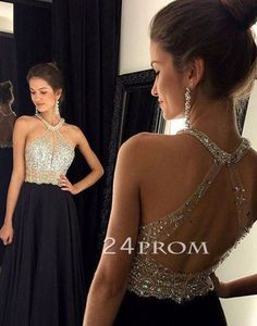 long black prom dress,sequin long prom dress,modest prom dress, ball gown,plus size prom dress,black evening dress for 2016