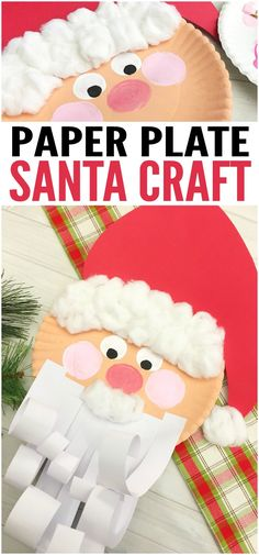 Jolly Santa Paper Plate Craft