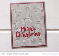 Bold Blooms Stamp Set, Merry Christmas Die-namics - Kimberly Crawford  #mftstamps
