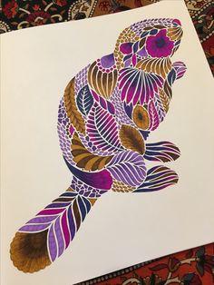 "Beaver ""Curious Creatures"" by Millie Marotta"