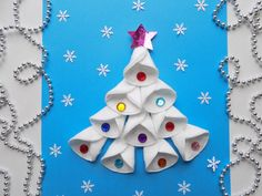 Christmas Art For Kids, Christmas Card Crafts, Christmas Activities For Kids, Winter Crafts For Kids, Preschool Christmas, Diy Christmas Ornaments, Crochet Christmas Trees, Santa Crafts, Theme Noel