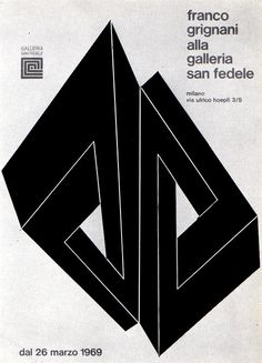 exhibition poster by Franco Grignani (1969)