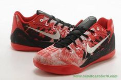 tenis de marca barato Masculino Vermelho / Branco / Preto 74194-008 Nike Kobe IX