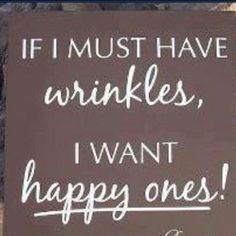 If I must have wrinkles...
