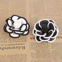 Branco preto rosa chá flor broche Pin para mulheres broche moda vestuário roupas…