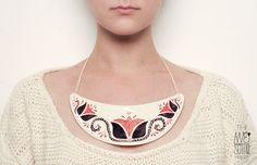 """chest plate #1 - NOT AVAILABLE  """"DOI"""" / """"TWO"""" porcelain jewelry f/w '12-'13 collection        wowowow"""
