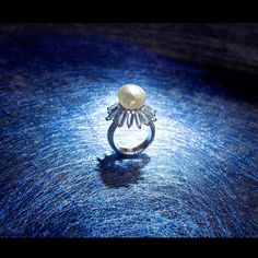 Natural Salt Water Pearl & Diamond Ring - Forms Jewellery