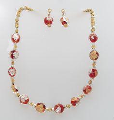 Gold & Silver Foil Blown Glass Post earrings
