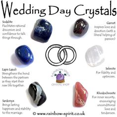 Wedding Day Crystal Set - The crystals in this set have been carefully selected to complement each other and for their proper - Crystal Magic, Crystal Healing Stones, Crystal Shop, Crystal Grid, Crystal Jewelry, Silver Jewelry, Crystals And Gemstones, Stones And Crystals, Gem Stones