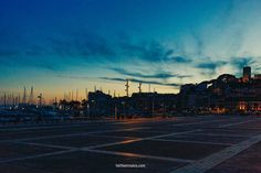 Harbour dusk French Riviera, Dusk, Airplane View, Sidewalk, Photography, Image, Photograph, Side Walkway, Fotografie