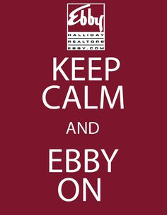 Ebby Halliday is here for all your real estate needs! Don't stress, call an Ebby agent today!
