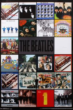 The Beatles Album Montage Poster 57x86.5cm in Home & Garden, Home Décor, Posters & Prints | eBay