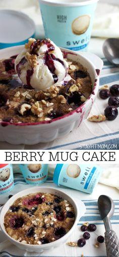 Berry Mug Cake Cobbler & the Next Wave of Ice Cream - Stay Fit Mom Protein Ice Cream, Vanilla Bean Ice Cream, Photo Food, Caramel Crunch, Kodiak Cakes, Berry Cake, Ice Cream Treats, Healthy Treats, Eating Healthy