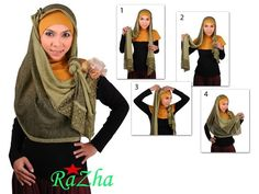 Triangle Hijab Paris  Tutorial To going Party