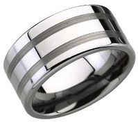 "Mens tungsten carbide wedding bands are also known as ""Permanently Polished Wedding Bands"". Wear a wedding band that is perpetually polished & forever new. Tungsten Carbide Wedding Bands, Wedding Rings, Engagement Rings, Mens Fashion, Jewelry, Weddings, Rings, Enagement Rings, Moda Masculina"