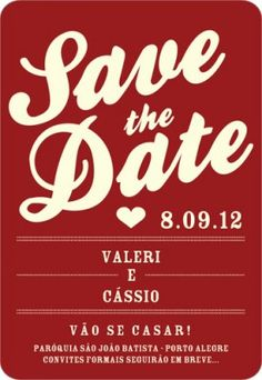Save the Date - blue