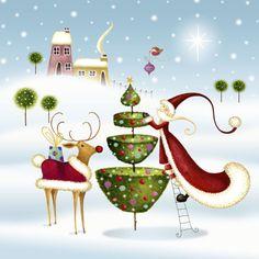 Nicola Rabbett - Santa With Tree & Reindeer (cv).jpg