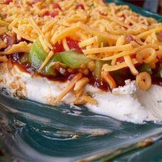 Making yummies for the Super Bowl Game BBQ Bacon Ranch Dip Allrecipes.com