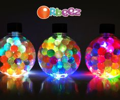DIY Orbeez LED Stimmungslicht - Like. Cute Crafts, Easy Crafts, Diy And Crafts, Crafts For Kids, Mood Lamps, Water Beads, Mood Light, Glitter Slime, Light Crafts