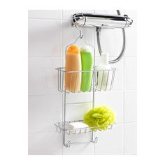 IMMELN Shower caddy, two tiers, zinc plated