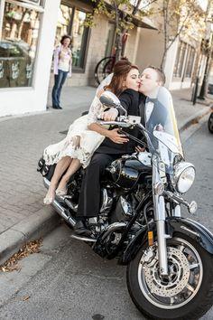 Sexy-Motorcycles Wedding Portrait