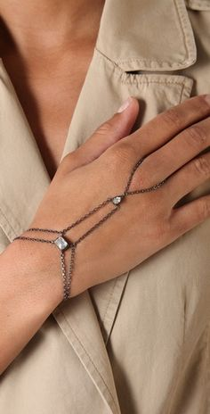 Made Her Think hand chain bracelet, $275.00 #jewelery #bracelet