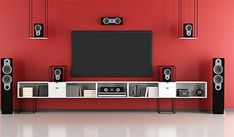 The complete guide to installing home cinema tech in a rented property Best Home Theater, Home Theater Setup, Home Theater Speakers, Home Theater Rooms, Home Theater Seating, Home Theater Projectors, Home Theater Design, Theatre, Home Entertainment