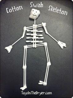 Cotton Swab Skeleton