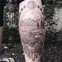 Lake Tahoe with Sierra Nevadas on the horizon, under a starry Gemini sky. Framed with Quartz, lupine and California poppy! By Pony Reinhardt at Tenderfoot Studio in Portland, OR. For more, follow on...