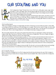 cub scout newsletter | scout insignia cub scout ranks academic sports program special award ...