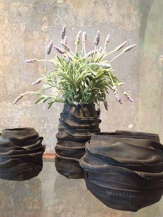 recycled bike tubes - vases