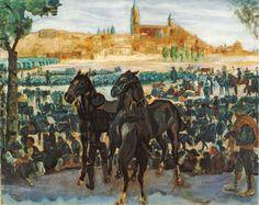 Francisco Iturrino | Santander, 1864 - Cagnes-sur-Mer, 1928 | Feria de ganado en Salamanca - c. 1898