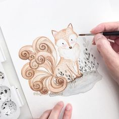Introducing our 1st member of Mythical Creatures Collection : Kitsune,the Nine-tailed Fox, a symbol of fertility and prosperity.  #drawing#draw#art_we_inspire#arts_help#worldofartists#handpainted#watercolor#winsornewton@winsorandnewton#watercolour#illustration#watercolorillustration#whiteaddict#whitecultural#bigbearandbird#cute#happy#instagram#artoftheday#diy#craftsposure#fox#mythical
