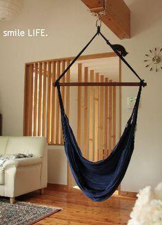 お家でも・・・ Hammocks, Kidsroom, Home Improvement, Dining, Living Room, Chair, House, Home Decor, Interiors