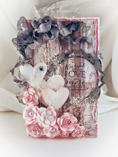Paper Talk With Samra: Pink and Grey Valentine Card