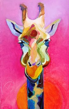 Absolutely love this: Giraffe by Bob Ransley Art And Illustration, Pintura Graffiti, Arte Pop, Art Plastique, Love Art, Painting Inspiration, Art Lessons, Painting & Drawing, Amazing Art