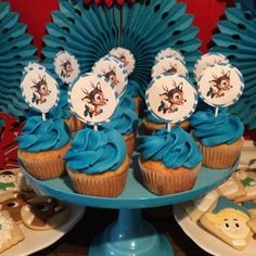 Cute cupcakes at a vintage Rudolph Christmas  party!  See more party planning ideas at CatchMyParty.com!