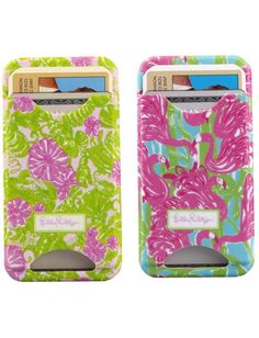 Lilly Pulitzer iPhone 4S Case with Card Slot...genius!