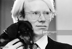 Andy Warhol and dog http://www.gettyimages.com/license/488083789