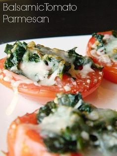 Balsamic Parmesean Tomatoes | Baking Beauty
