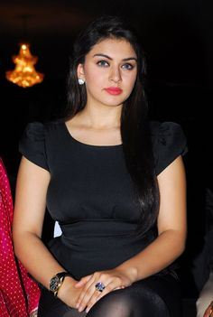 Hansika Motwani Hot Stills In Black Dress