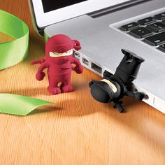 Yep, a 4 GB USB flash drive - a Ninja.  with the drive.  in his butt.  Everyone is getting this for Christmas this year. :)