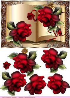 Book Red Roses on Craftsuprint designed by Marijke Kok