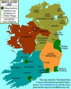 Viking Territory Map Ireland Irish Language, Viking Age, Dark Ages, Interesting History, The Vikings, Norse Vikings, Carlingford Ireland, St Patricks Cathedral Dublin, Celtic Culture