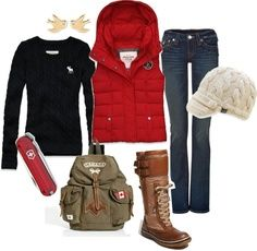 Hiking outfit for cold weather